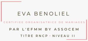 diplôme Organisatrice de mariage Nantes Eva Benoliel R'eva deux