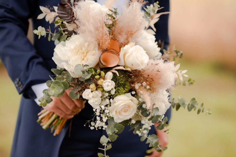 bouquet de mariée eucalyptus pour homme. R'eva deux wedding planner nantes