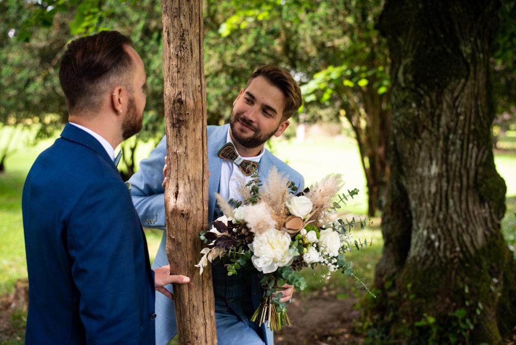 couple homme gay mariés photo de couple mariage wedding planner nantes revadeux
