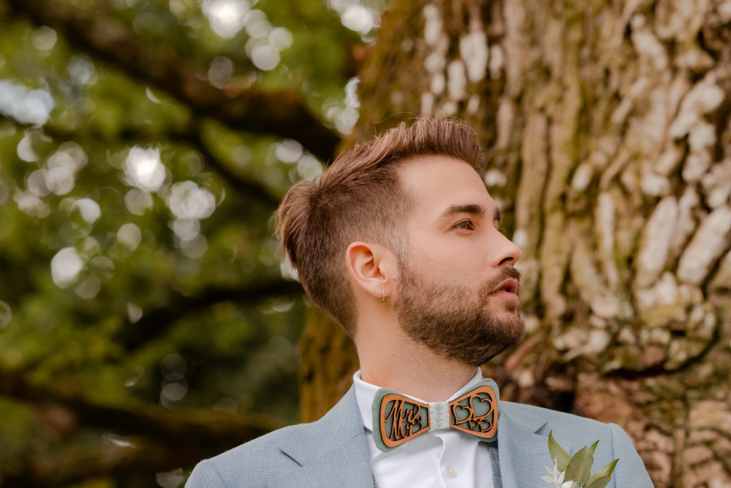 shooting d'inspiration mariage homme noeud papillon wedding planner nantes revadeux